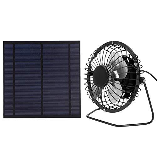 Hozee Panel Solar, Ventilador de energía Solar, Panel de Cargador Solar portátil, Conjunto de Paneles solares, para gallinero de Perro de Invernadero