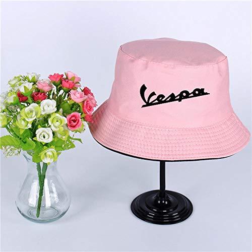 QIANWEIXI Fischerhut Sommerhut Frauen Herren Panama Eimer Hut Vespa Moto Flache Sonnenblende Angeln Fischerhut-Farbe: 7