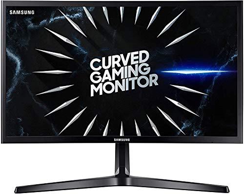 "Samsung C24RG52 Odyssey Monitor Curvo da 24"", Pannello VA, Full HD 1.920 x 1.080, 4 ms, Freesync, 2 HDMI, 1 Display Port, Ingresso Audio, Easy Setting Box, Eye Saver Mode, Flicker Free Mode, Nero"