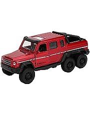 Juguete de camioneta, aleación de alta simulación 1:32 Tire hacia atrás Modelo de camioneta Diecast Coches de juguete con adornos decorativos de sonido y luz para niños Niños(rojo)