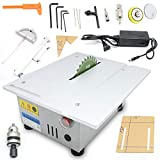 BoTaiDaHong Multifunctional Mini Table Saw Woodworking 100W 7000RPM Benchtop Table Saw Cutting Polishing Carving Machine Accurate Woodworking Precision Miniature Table Saw DC 24V
