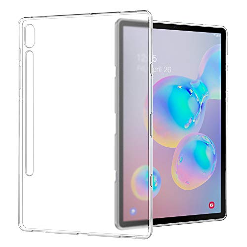 MoKo Case Fit Samsung Galaxy Tab S6 10.5 2019, Clear Grip Soft Flexible Transparent TPU Skin Shockproof Back Cover Protector for Galaxy Tab S6 10.5 inch SM-T860/T865 2019 Release Tablet - Matte Clear