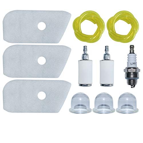 Best Review Of AUMEL Air Fuel Filter Line Repower Kit w/Primer Bulb for Husqvarna 125L 128LD 128CD 1...