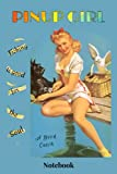 """PINUP GIRL Notebook Journal """"A Good Catch"""": Sexy Retro notebook/journal - """"Fishing is good for the s..."""