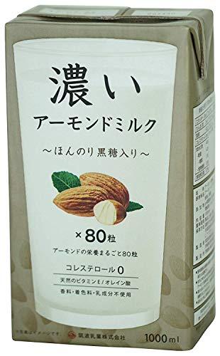 筑波乳業 ツクバ 濃いアーモンドミルク1000ml ほんのり黒糖入り