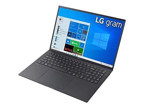 LG Gram 16 Zoll Ultralight Notebook Business Edition - 1,120 kg Leichter Intel Core i5 Laptop (16GB LPDDR4 RAM, 512GB SSD, bis zu 22 h Akku, WQXGA IPS Display, Thunderbolt 4, Win 10 Pro) - schwarz