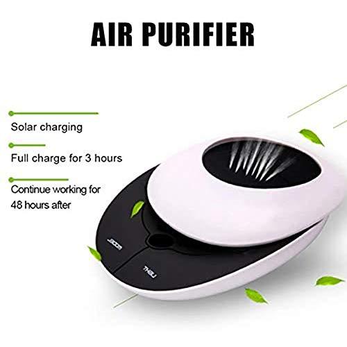Dytxe-shelf Draagbare luchtreiniger, stille luchtfilter, actieve kool-luchtfilter, voor stofballergie, pollen, luchtfilter, stofafzuiger, voor auto-rokers in de slaapkamer en thuis