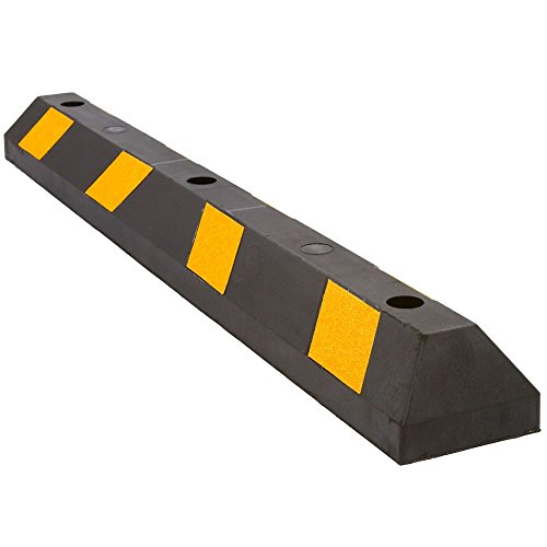 "commercial Guardian Discount Rugged Rubber Curb – 48 ""Length"" rubber parking curbs"