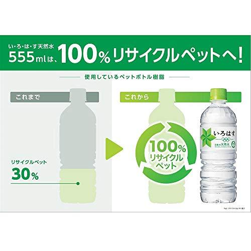 『コカ・コーラ い・ろ・は・す 天然水 555mlPET×24本』の9枚目の画像