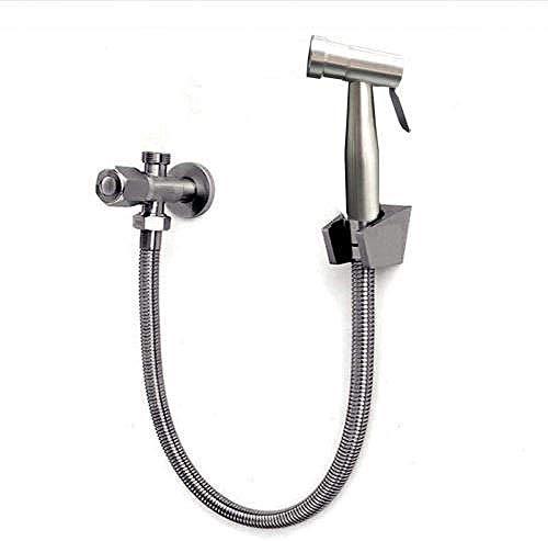 LONGWDS Kit de rociador de pañales de tela de ducha musulmana – SUS304 acero inoxidable Flusher Booster spray pistola ducha accesorio