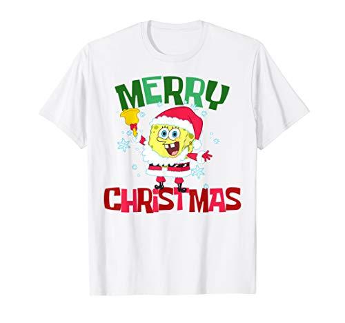 Spongebob Squarepants Santa Outfit Merry Christmas T-Shirt