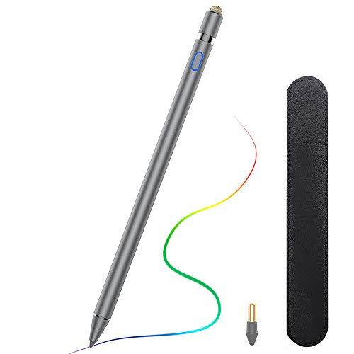 TiMOVO Lápiz Stylus con Rechazo de Palma Compatible con iPad Pro 2021, iPad 8ª Gen, iPad Pro 11/12,9 Pulgadas (2018-2021), iPad 7ª/6ª Gen, iPad Air 4ª/3ª, iPad Mini 5ª - Gris