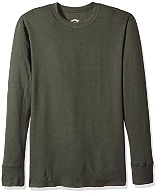 Duofold Men's Mid Weight Wicking Crew Neck Top, Forest Grove, Large