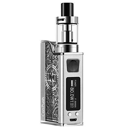Conpush 150W VAPE Sigaretta Elettronica Kit E Cig Mod Starter Kit, batteria 1500mAh, schermo LCD da 0,91 pollici (argento, senza nicotina)