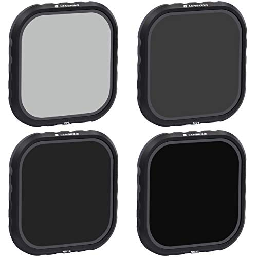 LENSKINS 4-Pack Lens Filter ND8 ND16 ND32 CPL for GoPro Hero 8 Black, Neutral Density and Circular Polarizer Lens Filter Kit Lens Protector for GoPro 8 Black Accessories