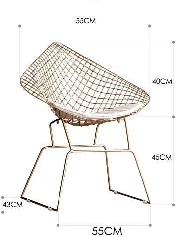 Diamant Chaise, Repas en métal forgé Fer Chaises Style Moderne Chaise Loisirs chaises pour la Cuisine, Salle à Manger, Chambre à Coucher, Salle de séjour,Noir Red