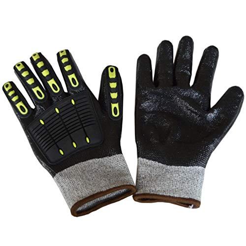 SGJFZD Guantes de trabajo resistentes con almohadillas para los nudillos, guantes de...