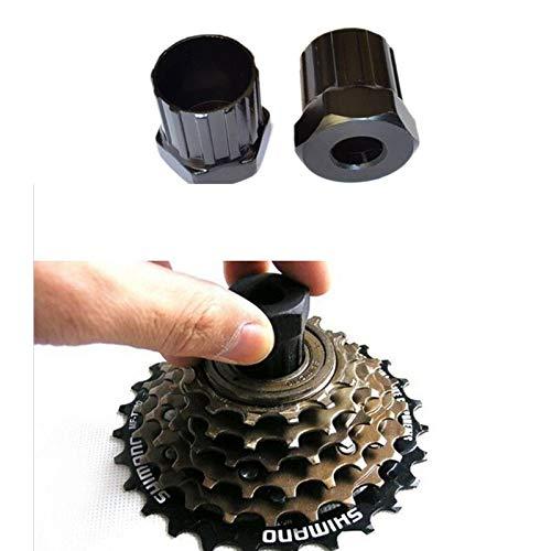 NOBRAND Bicicleta de Rueda Libre del Volante del Cassette Lockring removedor retiro de la reparación de la Herramienta 12 Dientes Llave de Acero al Carbono Duradera (Size : Black)