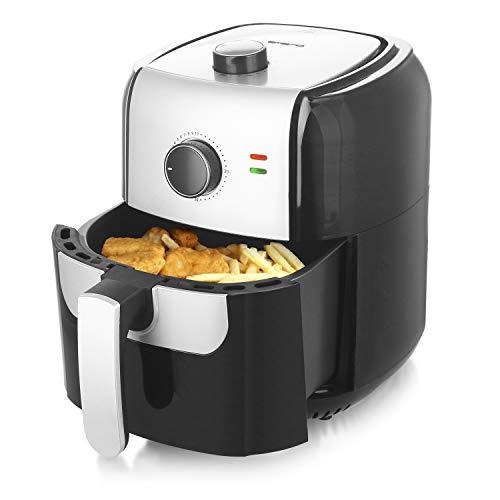 Emerio AF-123543 SmartFryer, AirFryer, Heißluftfritteuse, Frittieren mit heißer Luft-ohne zusätzliches Öl [], 5.5 Liter Volumen, 1400 Watt, Schwarz