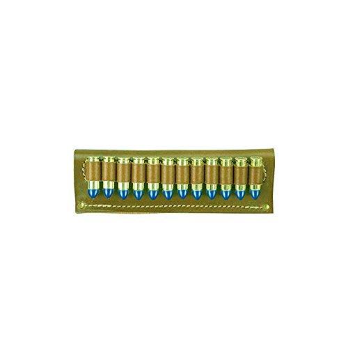 vsdfvsdfv Cartridge Belt Slide Pistol Ammunition Carrier Leather (Brown.38 Caliber)