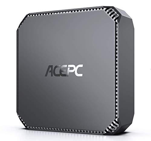 Mini PC, ACEPC 8GB RAM/ 128GB ROM Intel Celeron J3455 Prozessor 4K HD Windows 10 Pro Mini Desktop Computer mit 1000Mbps LAN, Dual Band WLAN, BT 4.2, Zwei HDMI-Ausgängen