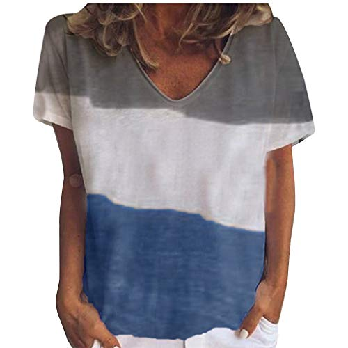Mens Summer Tie-Dyed Printing T-Shirt Boy Casual Novelty Crewneck Tunic Tops Shirts Undershirt for Exercise Swimming Holiday Hawaiian Cotton Tee