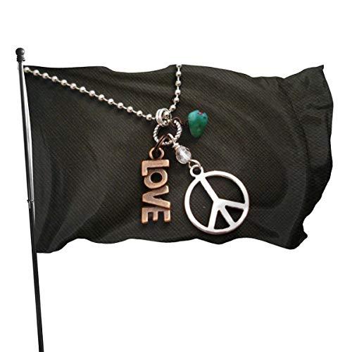N/A USA Guard Vlag Banner Welkom Vlaggen Bloed Liefde Vrede Hippie Kettingen Vrede Teken Yard voor Vakantie Patio Verjaardag Decoratie 3x5 Ft