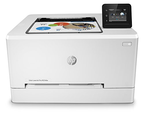 HP M254dw Laser Jet Pro - Impresora color (hasta 21 ppm, ethernet y Wi-Fi, pantalla táctil en color de 6.9 cm, 800 MHZ, inalámbrico, DDR de 128 MB, disco duro de 2 GB, Windows 7, 8, 8.1 y 10) blanco