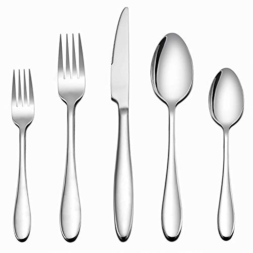 HaWare Besteck Set, 30-teilig Edelstahl Besteckset mit Messer/Gabel/Löffel, 100% Robustes Essbesteck für 6 Personen, Zeitloses/Elegantes Design, Hochglanzpoliert & Spülmaschinenfest