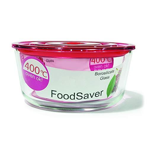 Contenedor de almacenamiento de alimentos de vidrio con tapa, tazón de mezcla de plato de horno para preparar comida Bento, congelador, horno microondas, lavavajillas, 54 oz/1650 ml (rojo)
