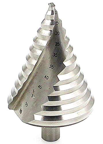 LESOLEIL Step Drill Bit Large Hole Cutter - HSS Spiral 6-60mm Dual-Fluted for Aluminum Copper Stainless Steel Brass Plexiglass Wood Iron Silver