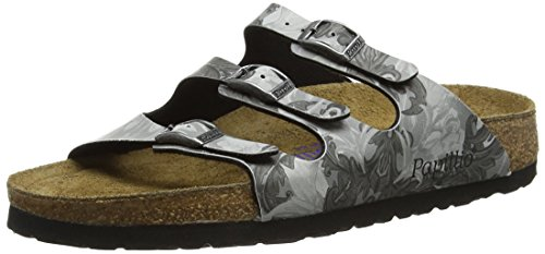 Papillio 1007084 Florida Birko-Flor Softfootbed, Damen Pantoletten, Grau (Damask Grey), 38 EU (5 UK)