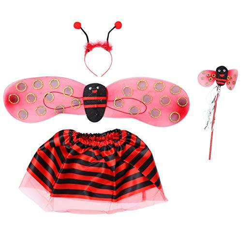 Hakka Wonderbaarlijke Lieveheersbeestje Kostuum Meisjes Lieveheersbeestje Kostuum Prestatie Kostuum Festival benodigdheden Cosplay Prop voor Meisje Kinderen Kinderen