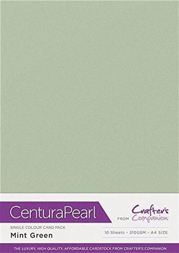 Centura Pearl Einfarbige 10 Bogenpacken, cardstock, Mint, 34.4 x 22.5 x 0.5 cm