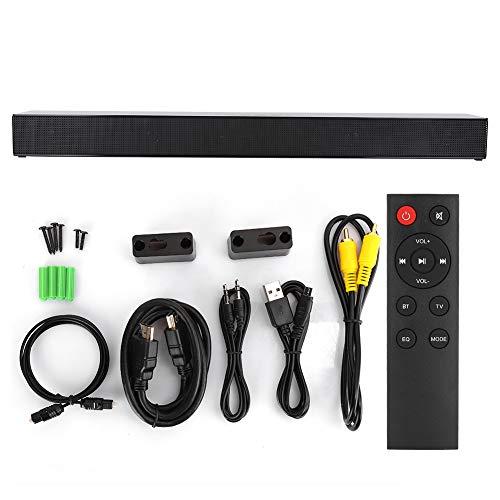 Huairdum Altavoz Bluetooth con Unidad Flash USB de 3,5 mm, Barra de Sonido de TV, para Barra de Sonido coaxial de PC de Ordenador de Cine en casa