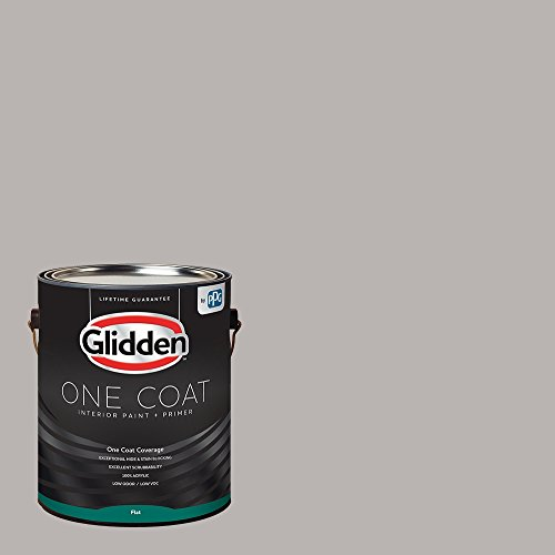 Glidden Interior Paint + Primer: Gray/Gray Marble, One Coat, Flat, 1-Gallon