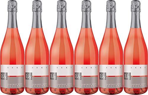 Cleebronn-Güglingen Samtrot Rosé Sekt b.A. 2017 Trocken (6 x 0.75 l)