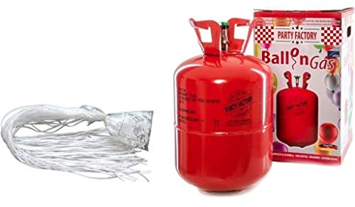 Adams Gas, Ballonservice Set: Helium Ballongas + 50 Fäden/Schnellverschlüsse