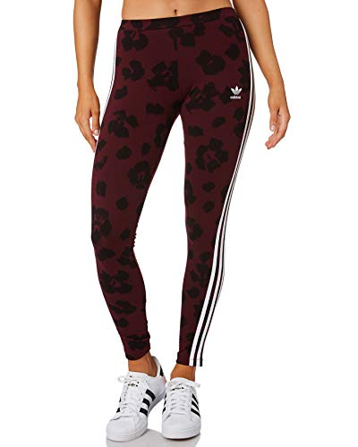 adidas Originals Damen Allover Print Leggings Weinrot 36 (S)