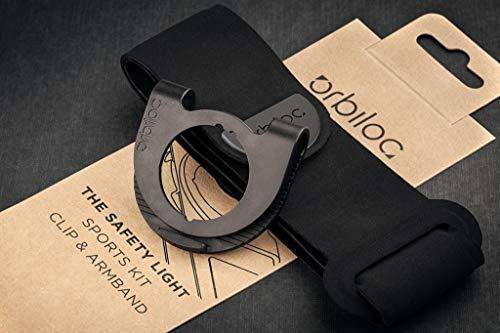 Orbiloc Brassard Sport Sangle et Clip LED Sécurité Veilleuse pour Course et Marche pour Chien / Propriétaire Entraînement Exercice Kit