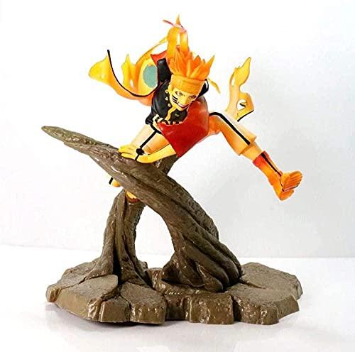 BIOAOUA PVC Figura Estatua Figura de acción Anime Modelo Figura PVC Muñeca Pila de Madera Shippuden Rama Escena Animación Wukong Modelo en Caja Decoración 20Cm