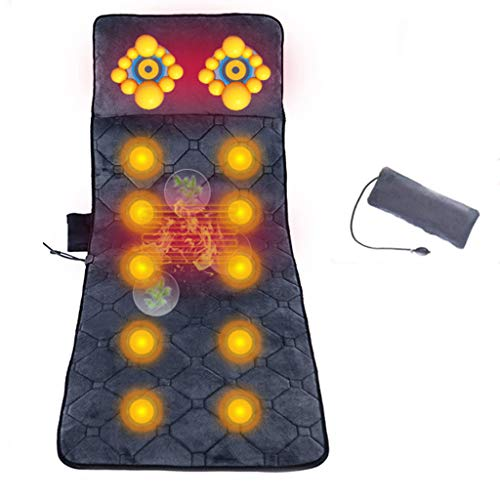 ZYM Comfier Full Body Massage Mats,10 Motors Massage Mattress Pad Vibrating Mattress with Heating Relieving Back Lumbar Leg Pain