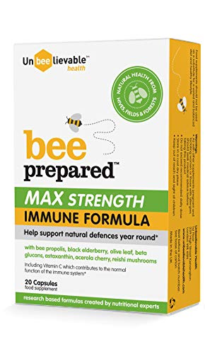 Unbeelievable Health Bee Prepared Max Strength Immune Formula 20 Capsules, 40 g