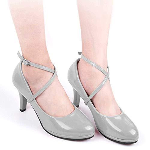 Womens PU Leder Anti-Rutsch-Schuhgurte Schnürsenkel Lady High Heels Anti-Lose Schnürsenkel mit Schnalle