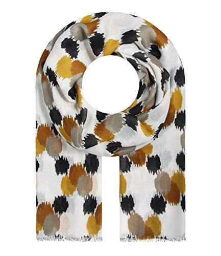 Majea Schal Damen Tuch Kopftuch Halstuch Schals und Tücher mit Muster Stola (braun 24)
