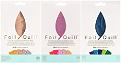 Bundle contains 3 packages of We R Memory Keepers Foil Quill 4 x 6 Inch heat activated foil sheets for use with the Foil Quill Pen. Each package includes 6 sheets in 5 different color finishes. Shining Starling Set - Classic Metallic Tones - 30 Sheet...