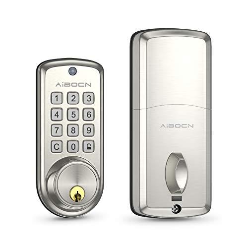 Smart Lock Keyless Entry Door Lock Deadbolt-Electronic Keypad Deadbolt Lock with Auto-Lock,10 Customizable User Codes,Easy to Install and Program,Security Smart Door Lock for Home by Aibocn