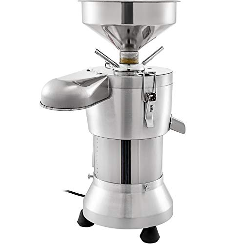 VBENLEM Commercial Soybean Milk Machine, 1100W Automatic Soymilk Making Machine with 35KG/H Yield Output, 2 Extra Grind Wheel Set & 3 Extra Strainer Bag, 2800r/min, Food Grade Stainless Steel for Household and Commercial