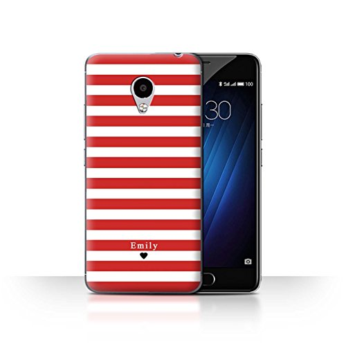 Stuff4 Phone Case/Cover/Skin/mzum3s/Custom Stripes/Striped Collection Coeur Rayé Rouge
