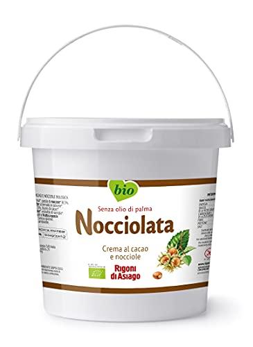RIGONI DI ASIAGO - Nocciolata, Crema de Cacao y Avellanas, Chocolate de Untar, Natural, Sin Azúcar, Sin Aceite de Palma, Orgánico, 100% Ecológico - 2.5 Kg